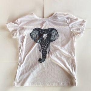 Tops - CUTE WHITE ELEPHANT T-SHIRT